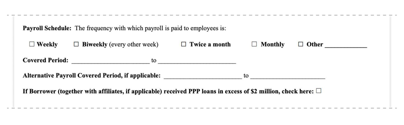 ppp loan forgiveness application form 3508EZ payroll schedule