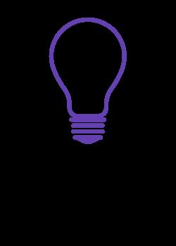 purple lightbulb outline