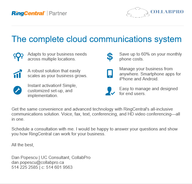 RingCentral - complete cloud communications system by