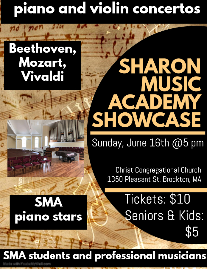 Afternoon of popular violin and piano concertos by Sharon Music